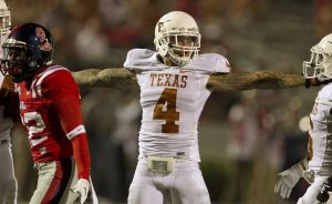 Kenny Vaccaro (4) from Texas is On the Clock's projection as the #16 overall pick in the 2013 NFL Draft.