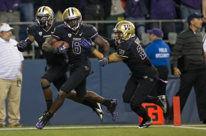 Cornerback Desmond Trufant (6) of Washington is projected to be the 13th overall pick in the 2013 NFL Draft, according to On the Clock's Jeff Vinton and Bill Slane